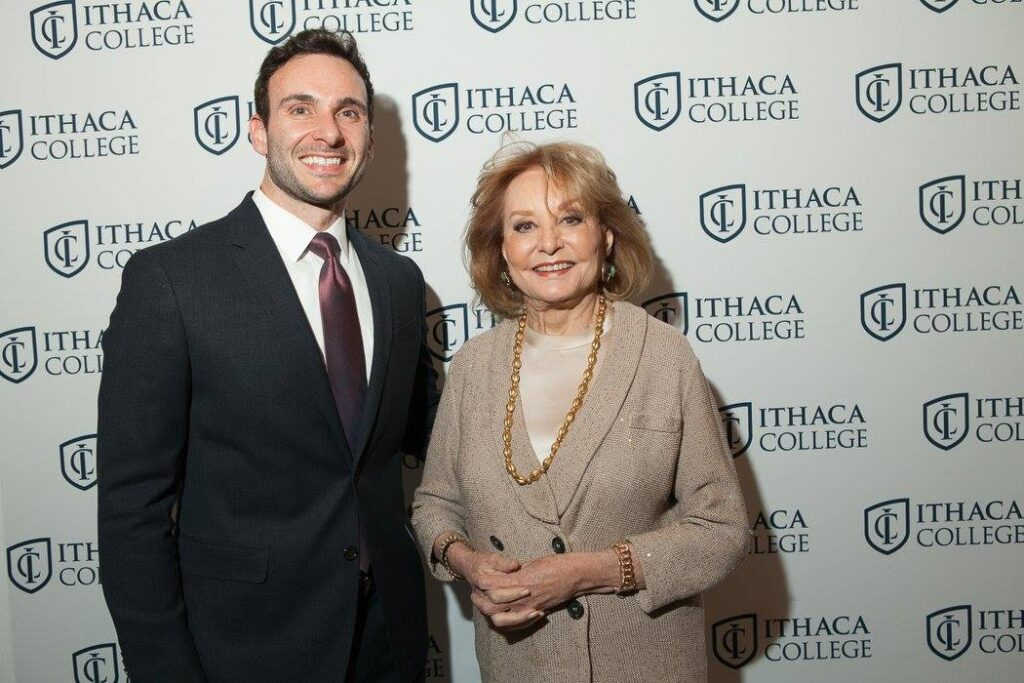 Anthony Adornato and Barbara Walters at an event in NYC.