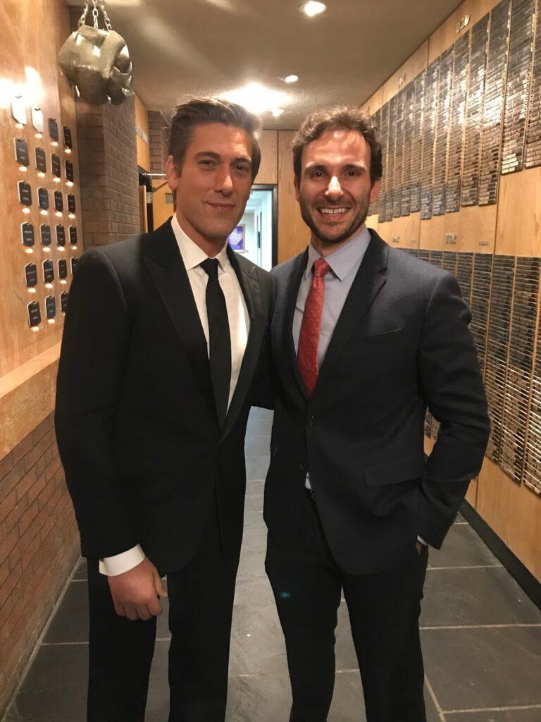 David Muir and Anthony Adornato in Syracuse.